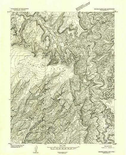 Cliff Topographic Map.Amazon Com Utah Maps 1952 Orange Cliffs 3 Ut Usgs Historical