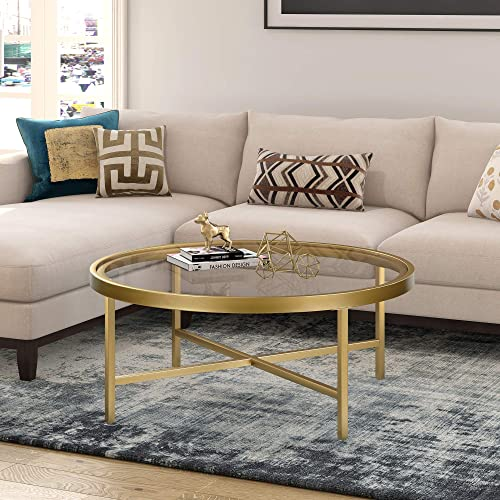 Henn Hart Gold Finish coffee table