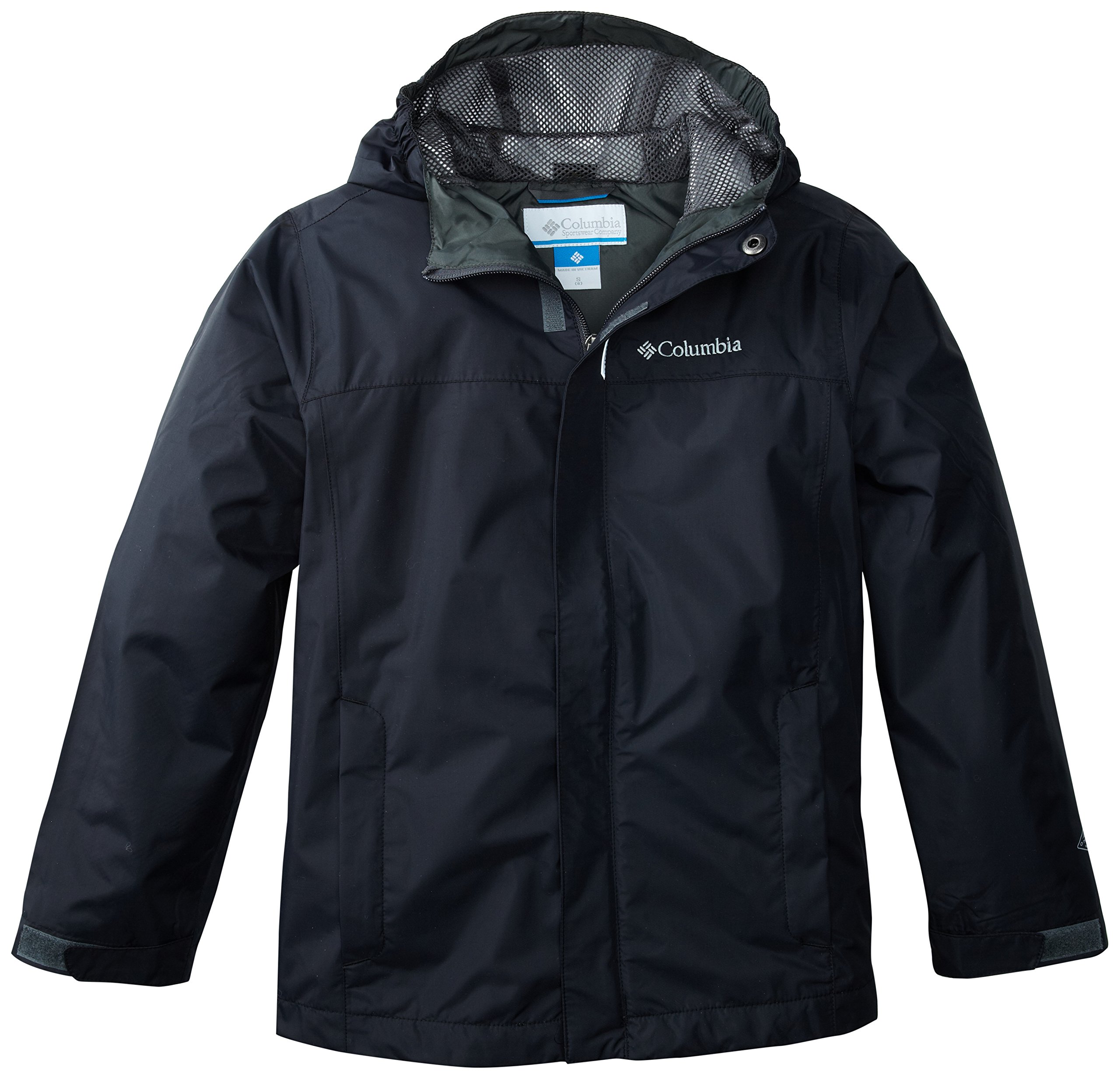 Columbia Big Boys' Watertight Jacket, Black, Large