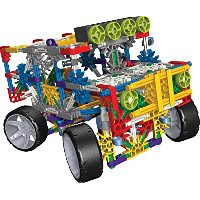 K'NEX 4 Wheel Drive Truck Building Set with Working Lights and Alternate Dune Buggy Design - 313 Pieces: Toys & Games