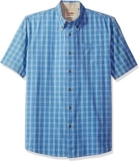 Wrangler Mens Authentics Short Sleeve Classic Plaid Shirt