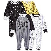 Gerber Baby Boys' 4-Pack Sleep 'N Play, Star, 0-3 Months