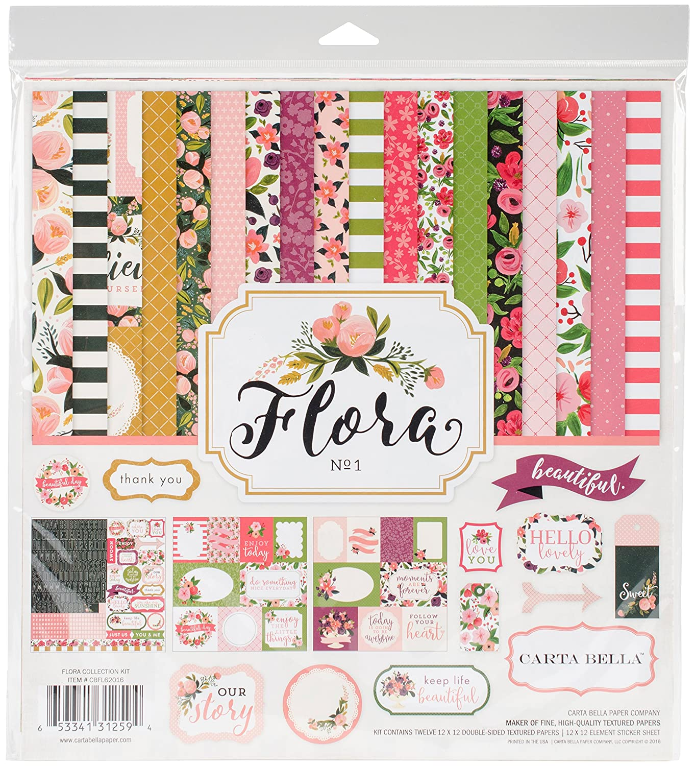 Carta Bella Paper Company CBFL62016 Flora No.1 Collection Kit Echo Park Paper