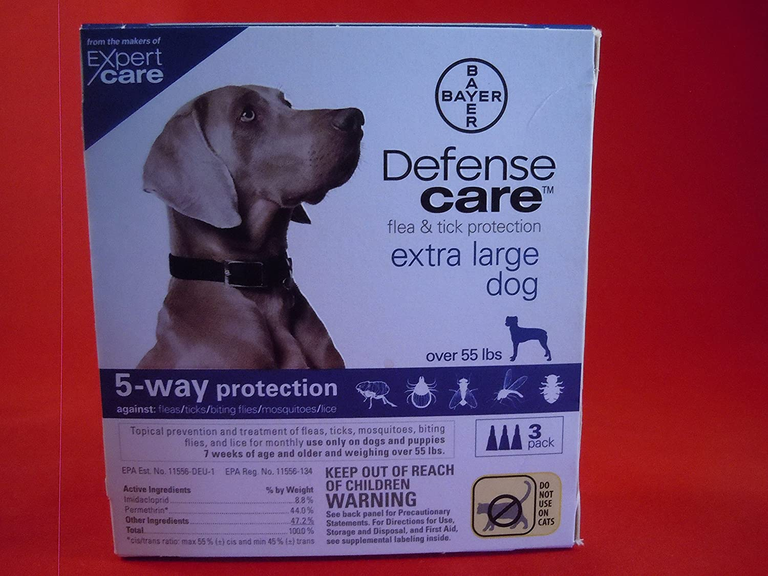 Flea & Tick Protection for Extra Large Dog by Defense Care