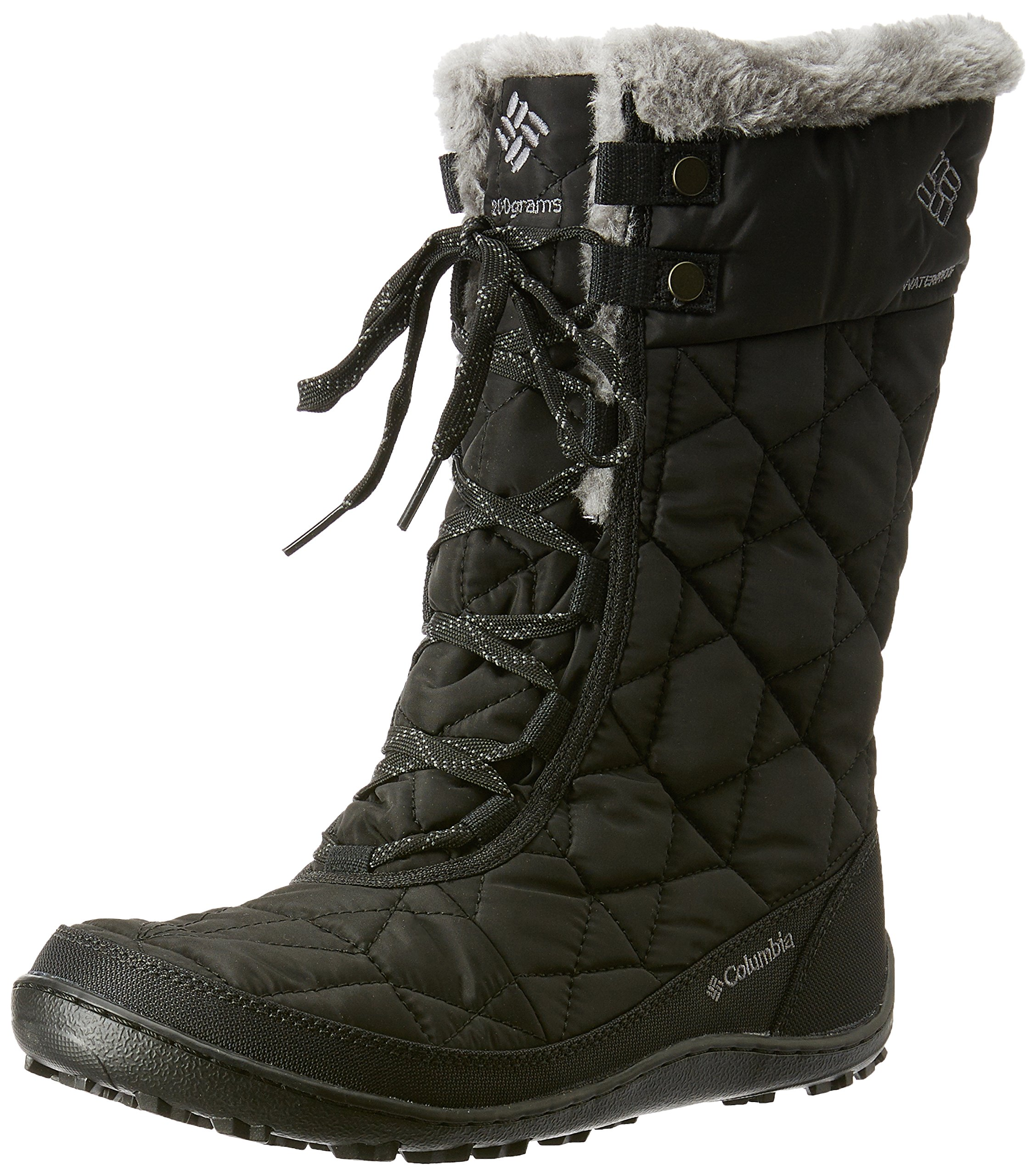 Columbia Women's Minx Mid II Omni-Heat Snow Boot, Black, Charcoal, 9 B US