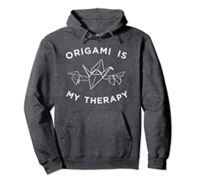 Amazon Origami Is My Therapy Hoodie Paper Folding Hooded