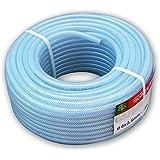 Tubo trasparente flessibile in PVC con rinforzo per varie applicazioni, diametro: 13 mm, lunghezza: 1 m