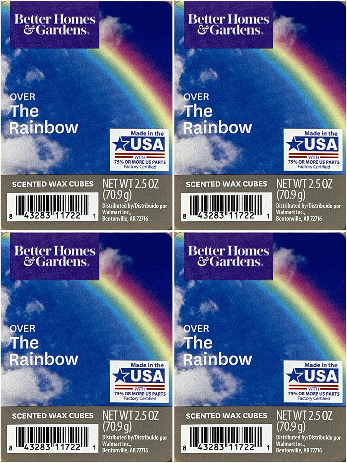 Better Homes and Gardens Over The Rainbow Wax Cubes - 4-Pack