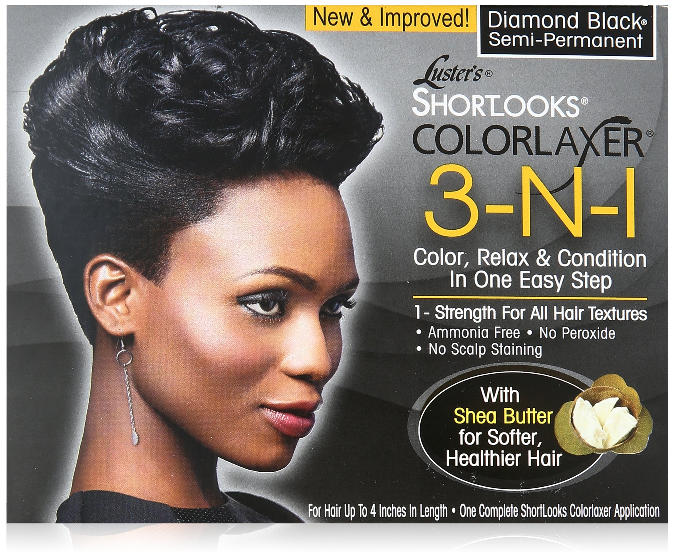 Luster's Shortlooks Color Relaxer 3-n-1 Diamond Black