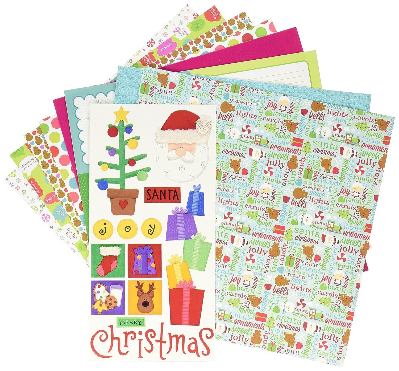 Doodlebug - pacco di carta decorata, 30,5 cm x 30,5 cm, motivo natalizio brillante e altri 5cm x 30 5182