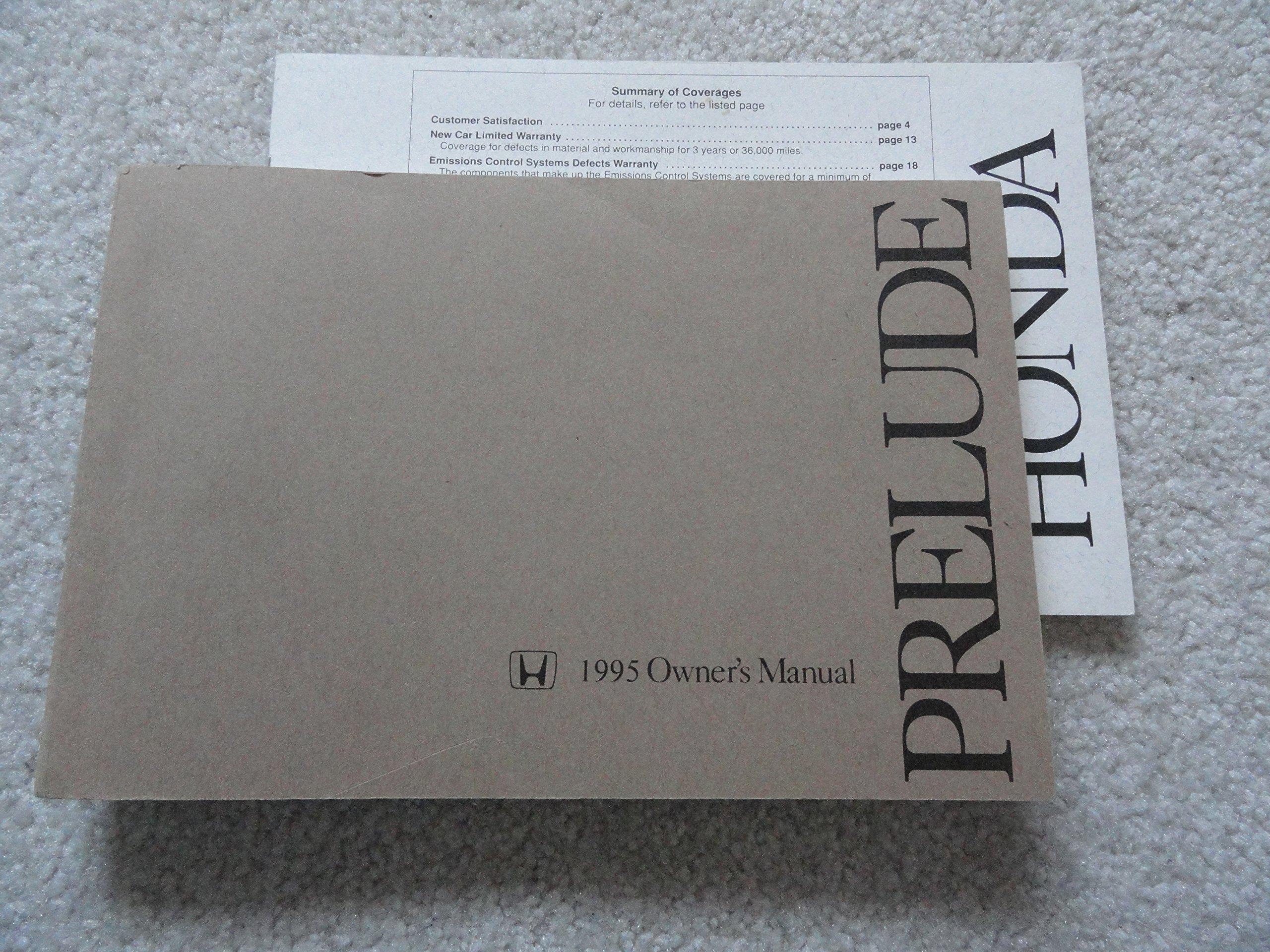 1995 honda prelude owners manual honda amazon com books rh amazon com 2000 Honda Prelude 2000 Honda Prelude