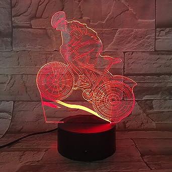 Bicicleta De Montaña 3D Proyección De Luz Nocturna Lámpara Led ...