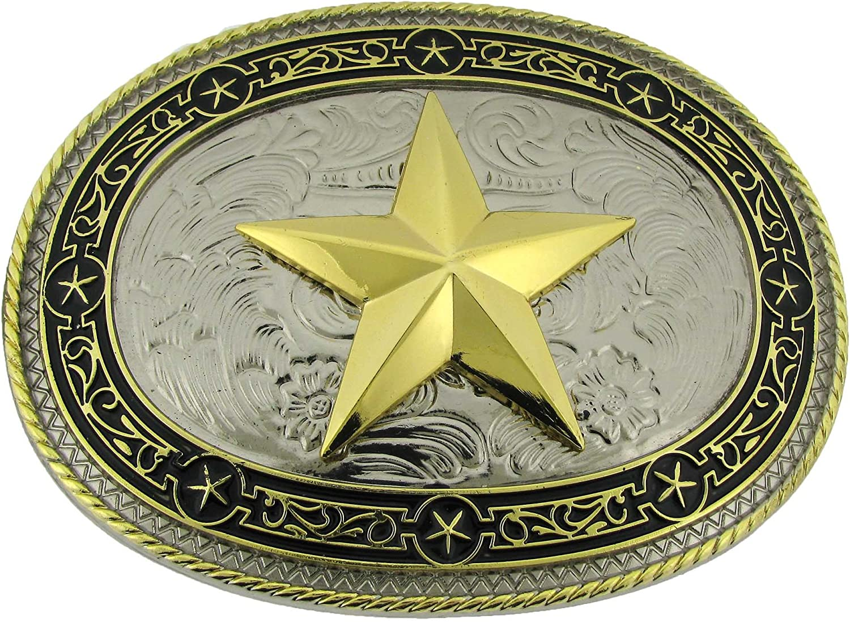 State of Texas Us Trooper Sheriff Badge Belt Buckle Cowboy Fashion Western Metal