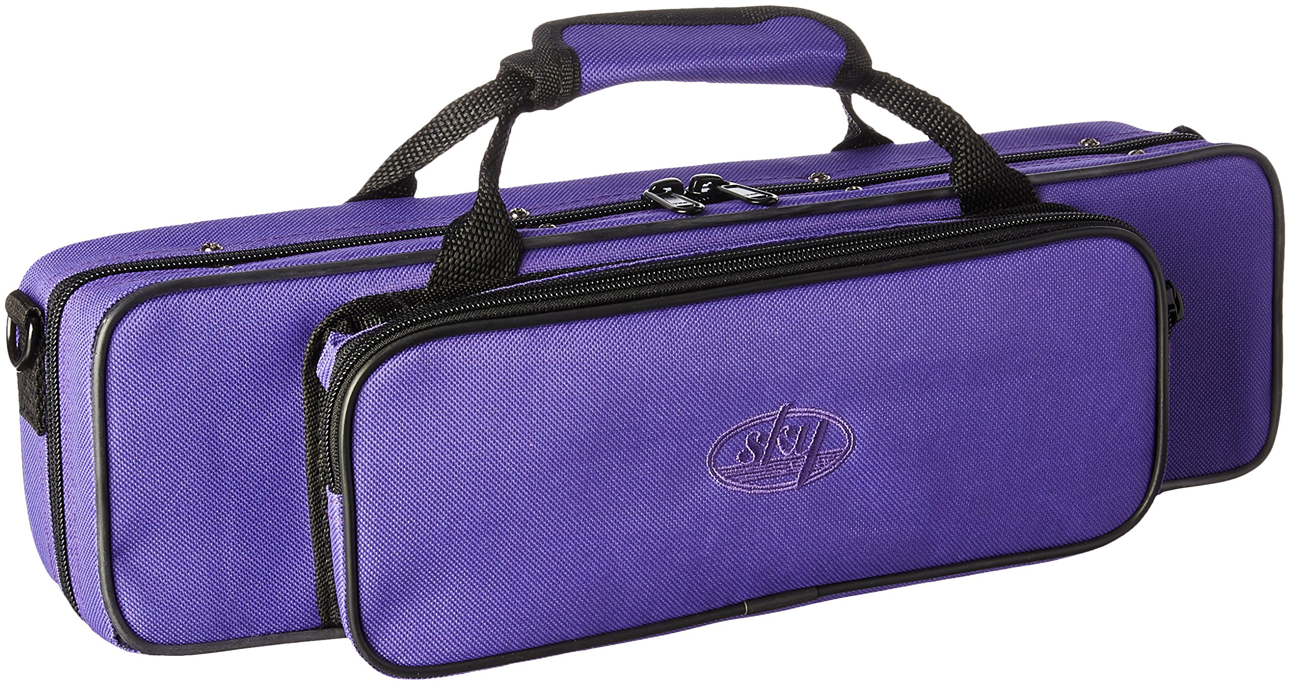 Sky''C'' Flute Lightweight Case with Shoulder Strap (Purple)