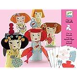 Djeco / Folded Paper Toy Kit, Kokeshis