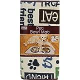 """Kitchen Basics Microfiber Anti-Skid Pet Bowl Mat - Beige - 10"""" x 20"""""""