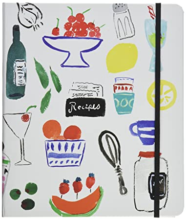 Kate Spade New York Recipe Book, , White