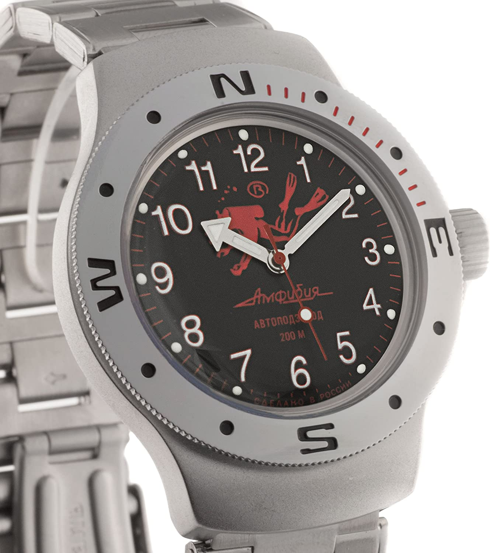 VOSTOK Amphibian Russian Watch WR 200 m Amphibia Diver Scuba Dude 060657