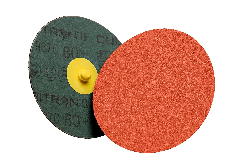 3 Precision Shaped Ceramic Grain 3M Cubitron II Roloc 94966 Disc TSM 987C Pack of 50 3 36+ Grit Fiber Backing
