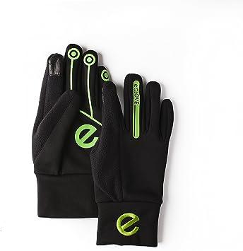 EGlove Xtreme Black Green (Medium) Touchscreen Fleece Gloves for Smartphone/Touchscreen Operation: Amazon.es: Electrónica