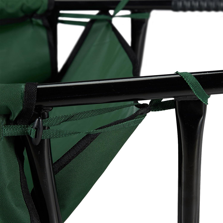 HxBxT 30 x 66 x 160 cm Faltschubkarre bis 30 Kg Relaxdays Schubkarre faltbar Polyester gro/ß 90 l Stahl gr/ün zum Aufh/ängen