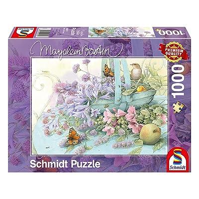 Schmidt Spiele Flower Basket Jigsaw Puzzle: Toys & Games