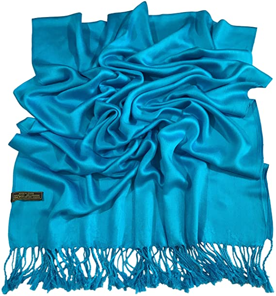 Baby Blue Solid Colour Design Shawl Scarf Wrap Stole Pashmina CJ Apparel **NEW**