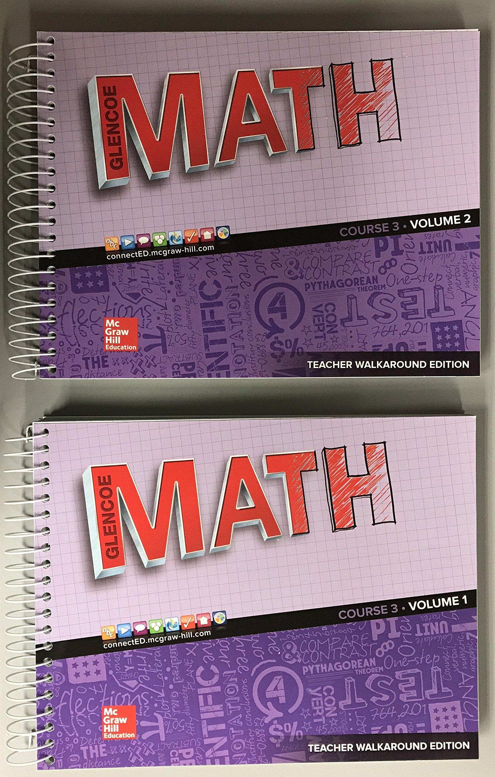 Glencoe Math 2016, Course 3 Teacher Edition, Volume 1 ISBN