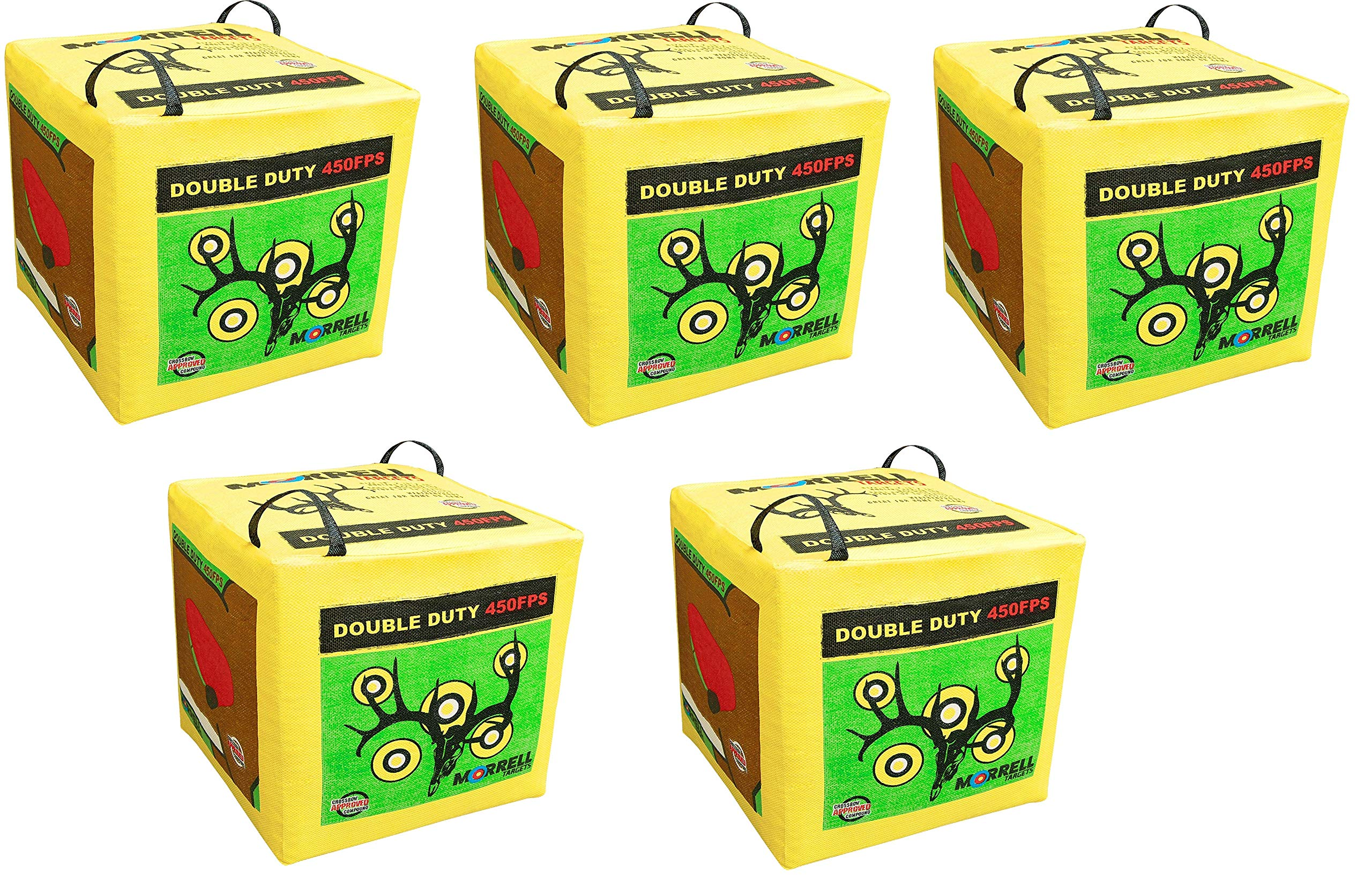Morrell Double Duty 450FPS Field Point Bag Archery Target - for Crossbows, Compounds, Traditional Bows and Airbows (5-Pack) by Morrell