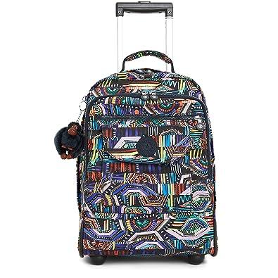 Amazon.com | Kipling Women's Sanaa Large Printed Rolling Backpack ...