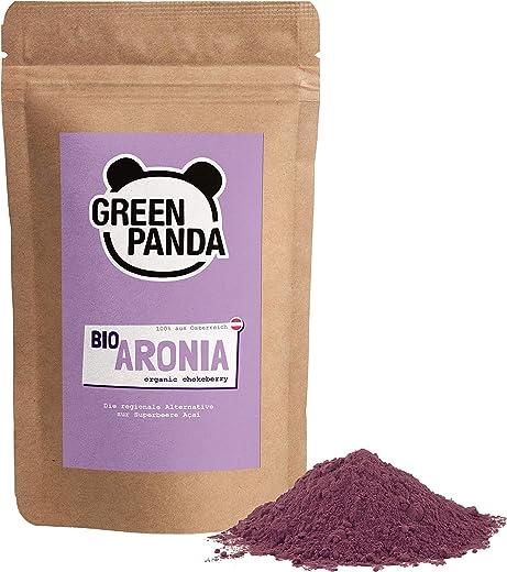 Polvo de Aronia orgánica de cultivo austriaco, bayas de Aronia bio deshidratadas y molidas extra finas sin aditivos, alternativa regional al polvo de Acai, de Green Panda