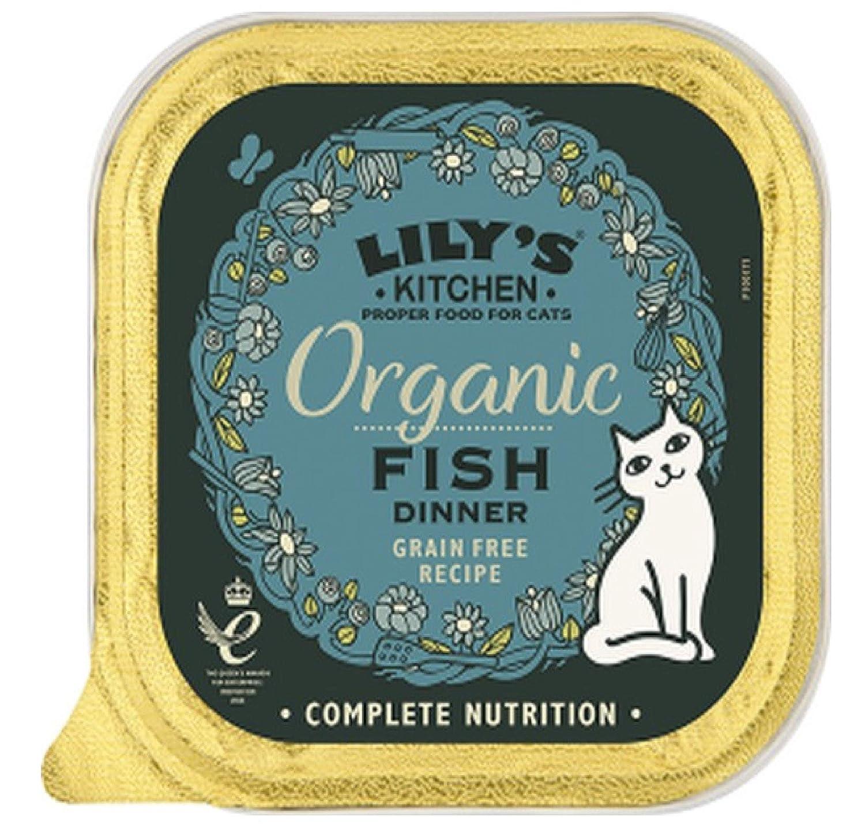 Lily's Kitchen ORGANIC FISH GRAIN FREE WET CAT FOOD 85g x57