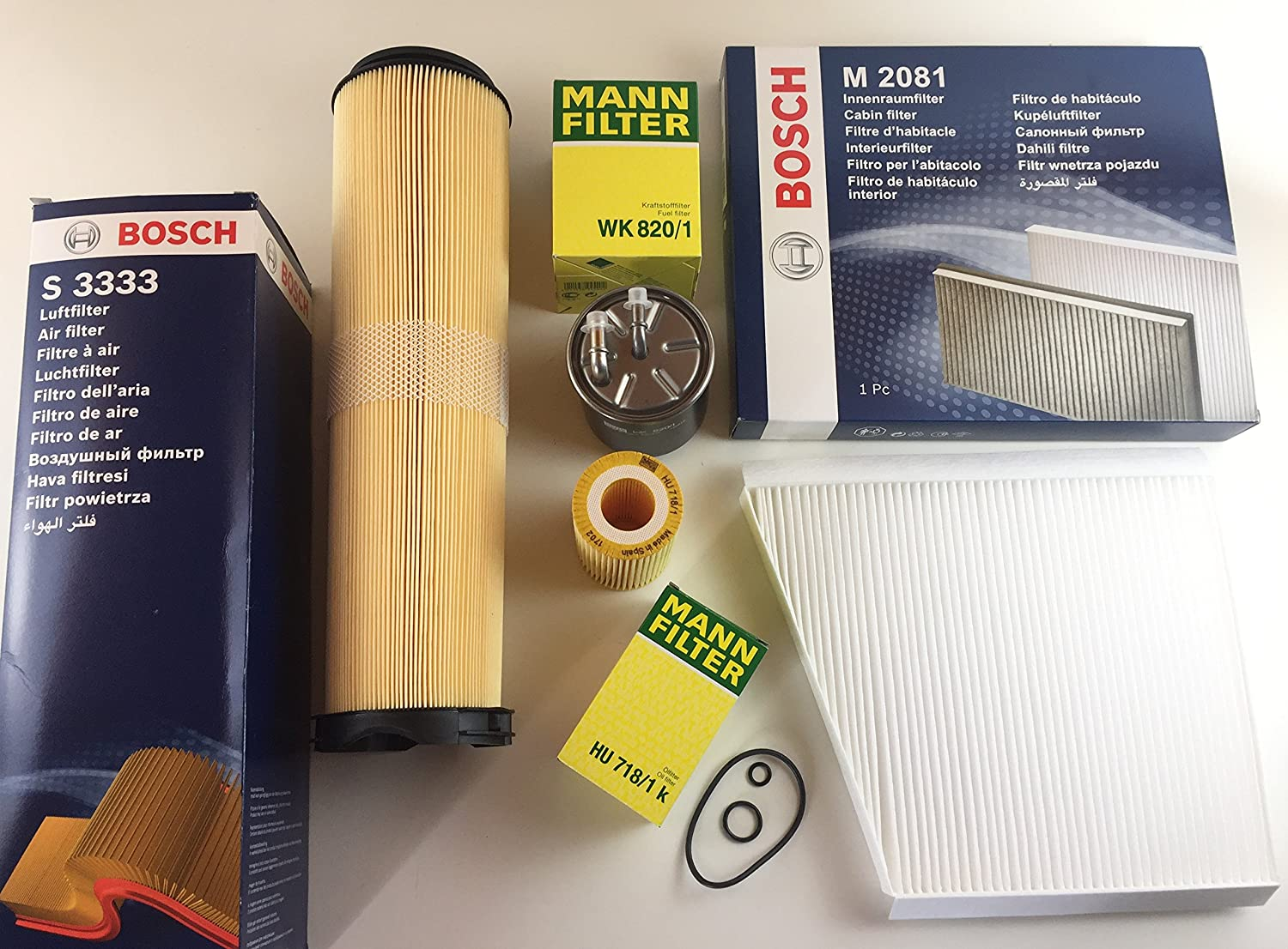 Mann Bosch Inspection Kit Oil Filter Air Fuel W211 S211 200 Cdi 220 270 Pollen Car Motorbike