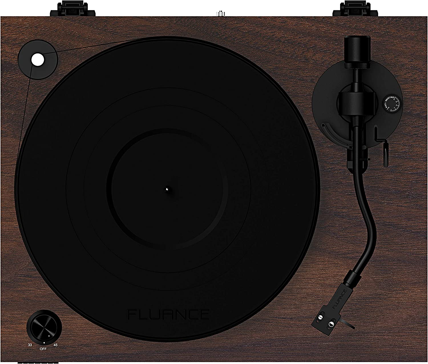 RT83W Speed Control Motor Vibration Isolation Feet Fluance Reference High Fidelity Vinyl Turntable Record Player with 2M Red Cartridge Solid Wood Plinth Walnut