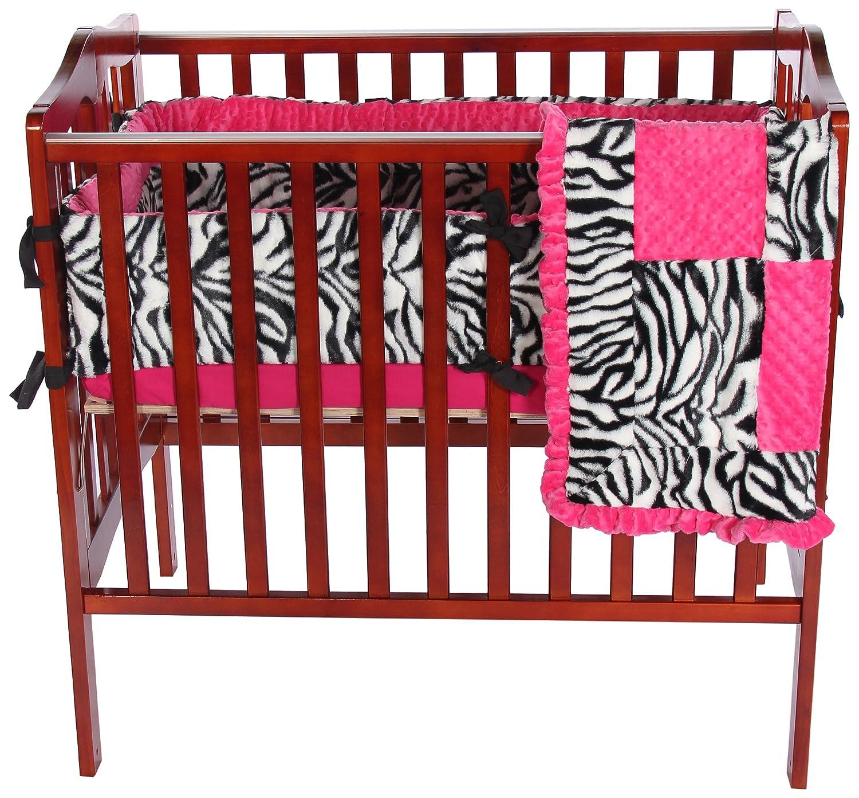 ベビードール寝具ゼブラMinkyミニベビーベッド/ポート-ベビーベッド寝具セット、ピンク   B007CICS4O