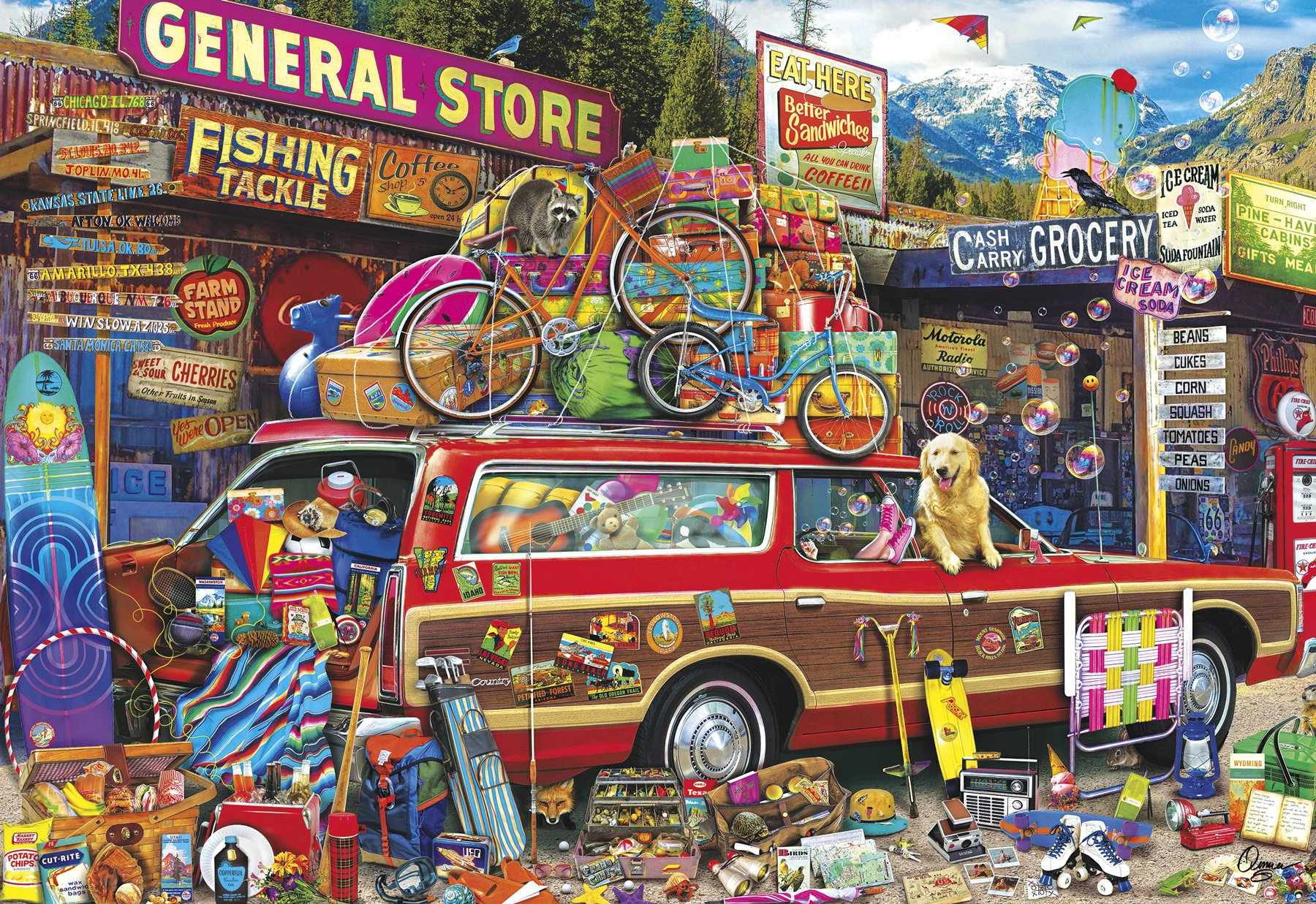Buffalo Games - Aimee Stewart - Family Vacation - 2000 Piece Jigsaw Puzzle by Buffalo Games (Image #2)