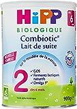 Hipp Biologique Lait 2 Combiotic Lait de Suite dès 6 mois - 3 boîtes de 900 g