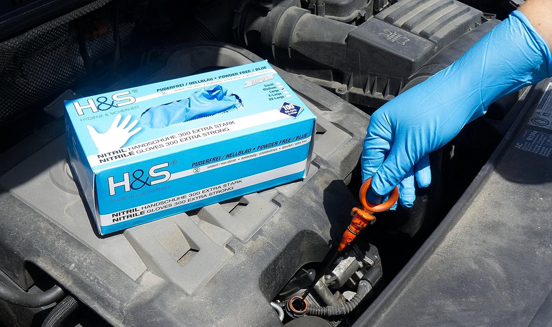 Large L, azul sin polvo y X-Large sin l/átex Medium sin polvo en Small Desechables son ideales para manipular alimentos. 100 Guantes de Nitrilo de ISC H/&S