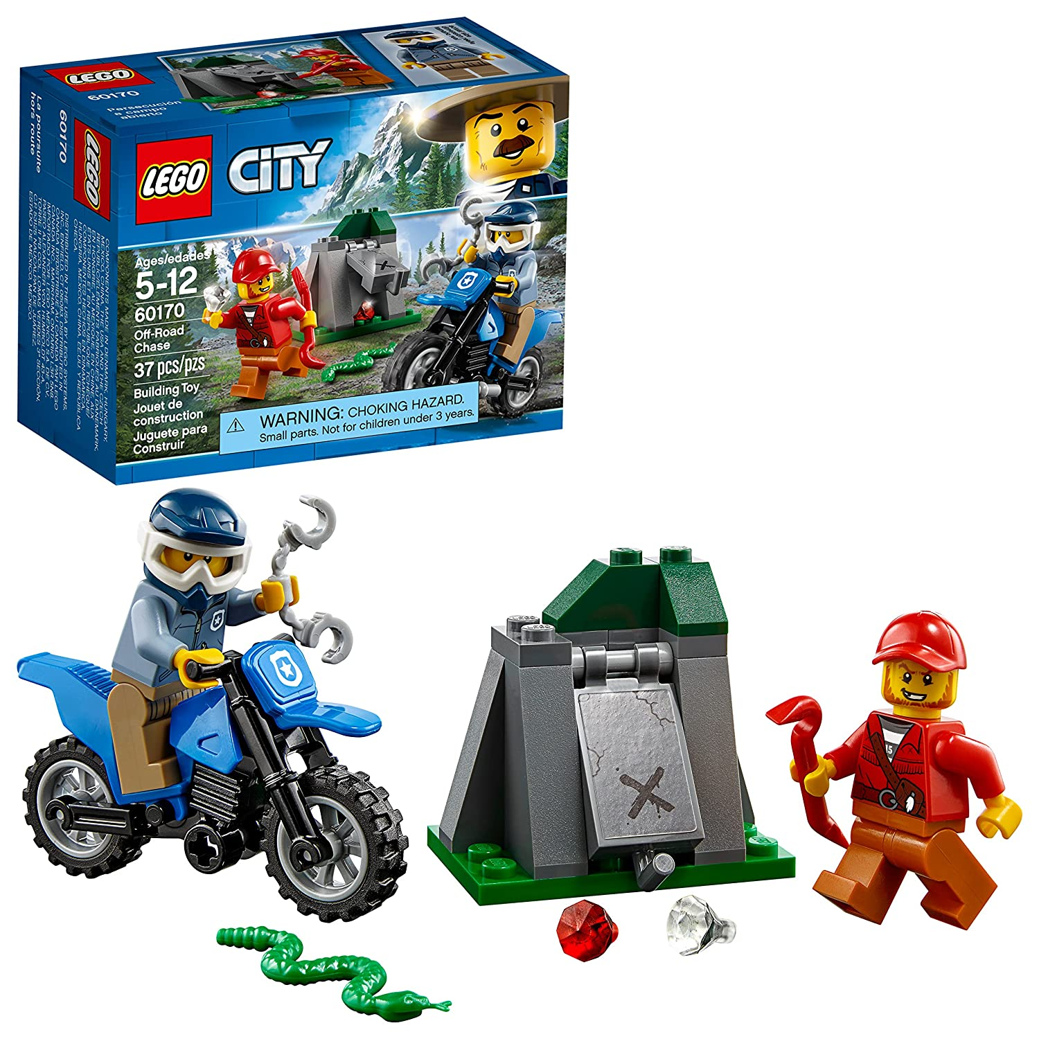 LEGO City Off-Road Chase 60170 Building Kit (37 Piece) 6210301