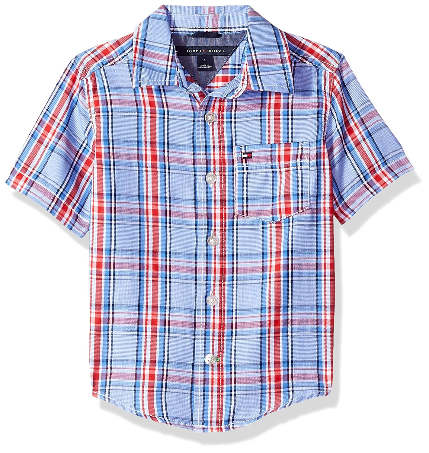 Tommy+Hilfiger Tommy Hilfiger Boys Short Sleeve Woven Shirt