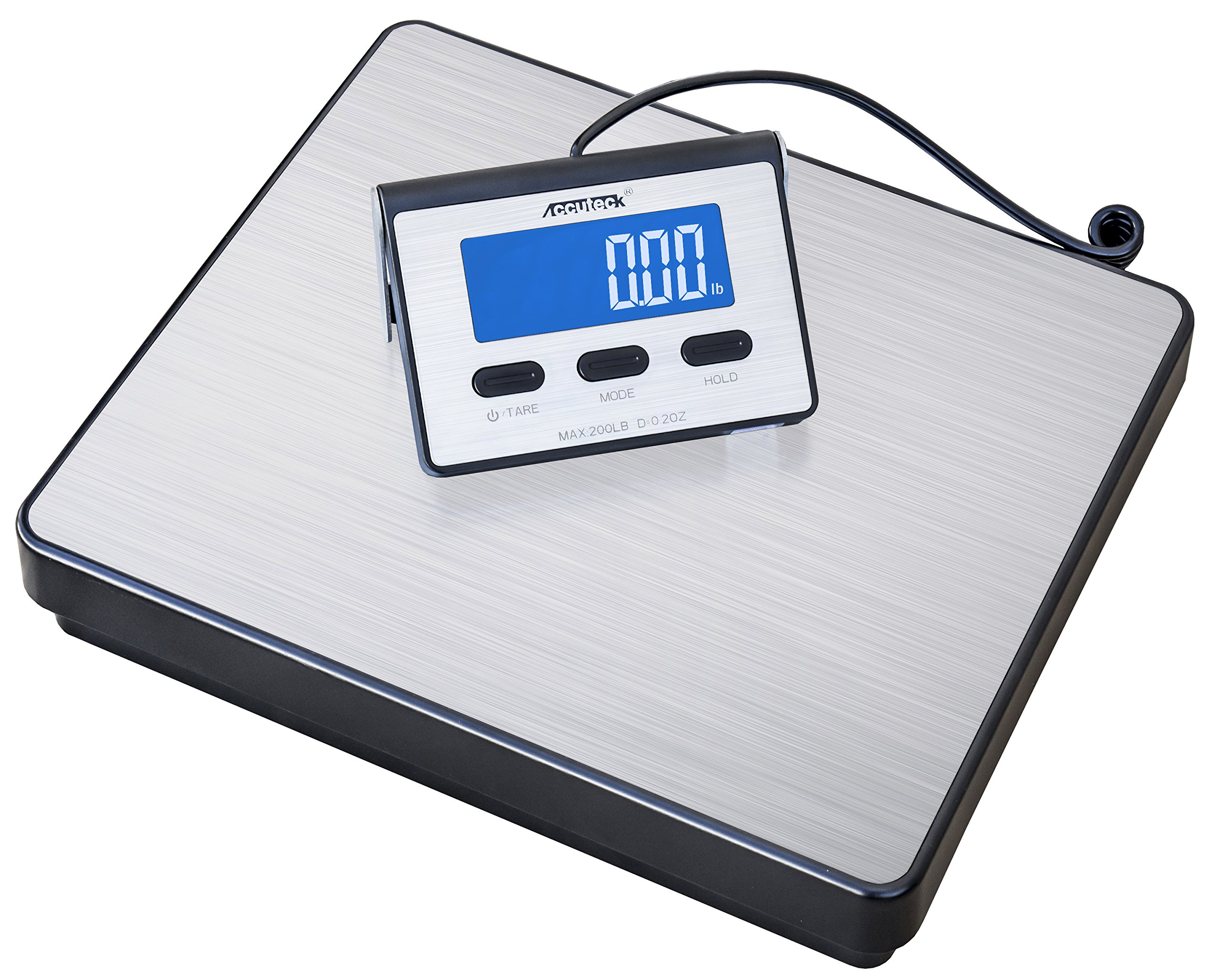 Accuteck A-BC200 200LB x 0.2 OZ Digital Heavy Duty Shipping Postal Scale, Stainless Steel
