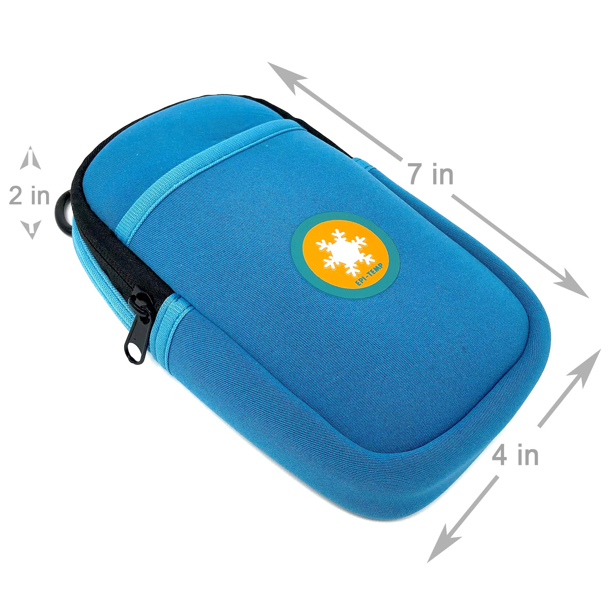 EPI-TEMP Epipen Insulated Case for Kids, Adults - Smart Carrying Pouch, Storage Bag, Powered by PureTemp Phase Change Material to Keep Epinephrine in Safe Temperature Range (Teal) by EPI-TEMP (Image #4)