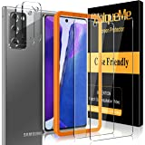 UniqueMe 2 Pack Camera Lens Protector for Samsung Galaxy Note 20 Tempered Glass + 2 Pack Screen Protector for Samsung…