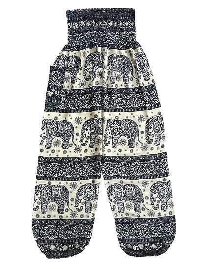 f3b696264e16dd Love Quality Black Bali Striped Elephant Pants at Amazon Women's Clothing  store: