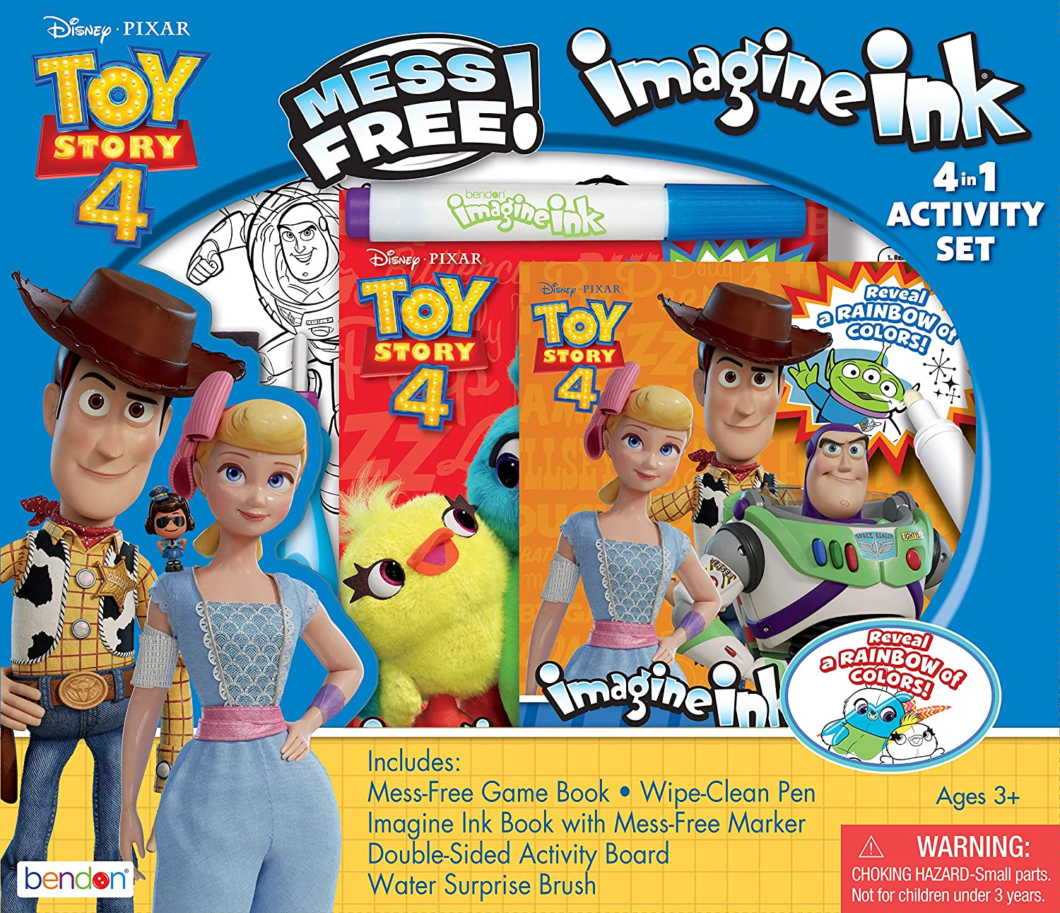 Amazon Com Bendon Toy Story 4 Official Imagine Ink 4 In 1 Kit Multicolor Toys Games