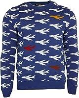 Run & Fly Airplane Aeroplane Jets Knitted Jumper Retro Kitsch Indie Vintage