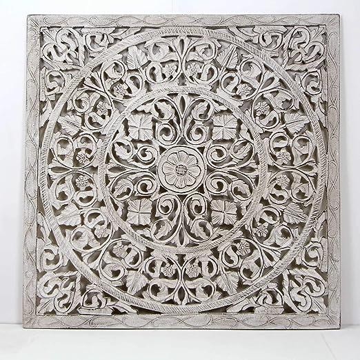 Mandala de Pared, Fabricada artesanalmente en España- tamaño 80x80 ...