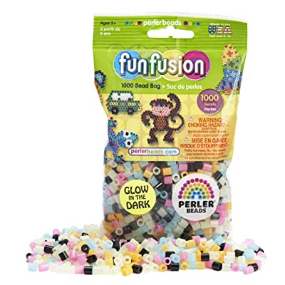 Perler Beads Glow in the Dark Bead Mix (1000 Count): Toys & Games