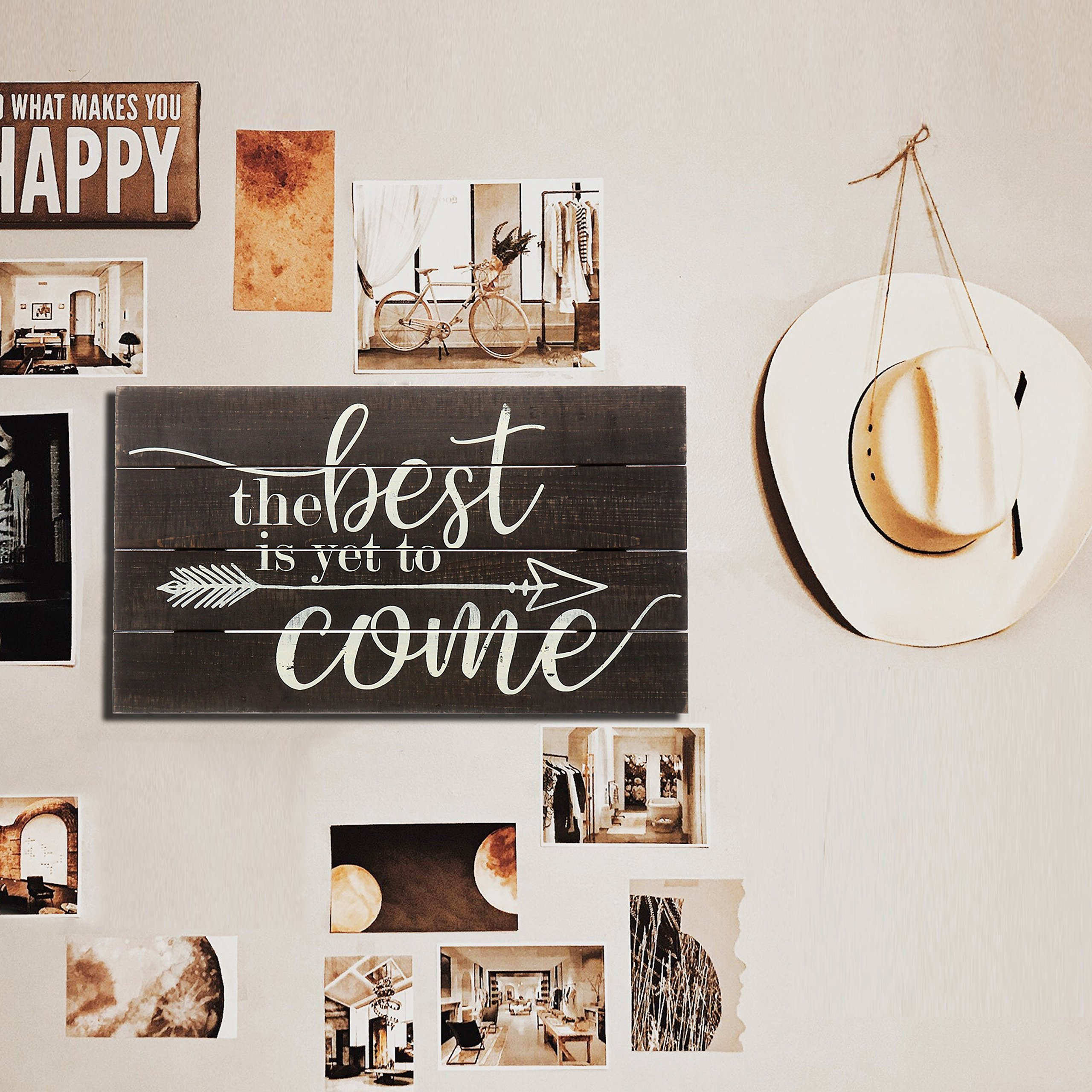 """Barnyard Designs The Best Is Yet To Come Rustic Wood Hanging Sign Decorative Wall Decor 17"""" x 10"""" by Barnyard Designs (Image #3)"""