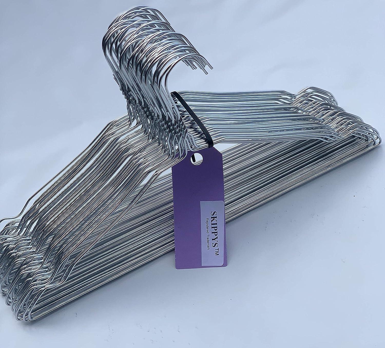 50 Drahtb/ügel Silber Draht-Kleiderb/ügel f/ür den Hausgebrauch Chemische Reinigung mit Einkerbungen Einzelhandel Notched